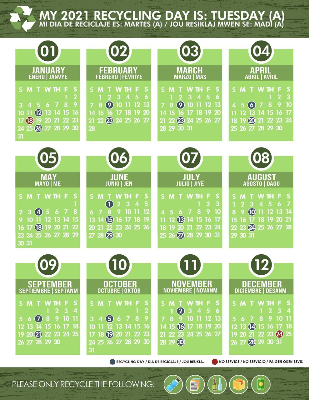 Recycling Schedule 2021 Miami Dade Christmas Morningside Civic Association Trash Recycling